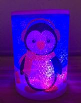 LED Battery Operated Colour Changing Christmas Candle ~ Penguin (A)